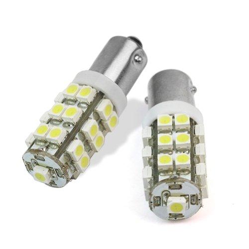2pcs BA9S Blanc 3528 SMD 25 LED Voiture Lumière D'ampoules 12V Nouvelles 80-90LM
