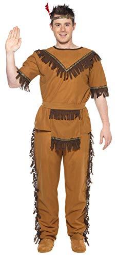 Indianerkost�m braun Indianer H�uptling Apache Herren Kost�m Gr ()