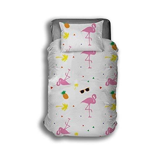 """Flamingo Design von Die Geschenk scholars. Wende Kleinkind Bettdecke, Einzelbett Bettdecke, 54 """"Vorhänge 72"""" vorhänge. Spaß Kinder Jungen Mädchen Kleinkind Bettwäsche Set mit passender Kissenbezug"""