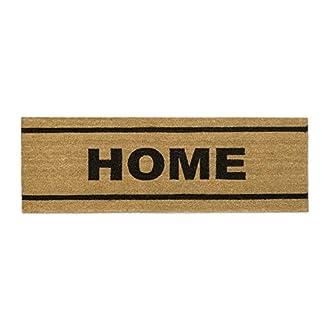 Relaxdays Home Zerbino per Ingresso in Fibra di Cocco, PVC, Marrone, 60 x 120 cm