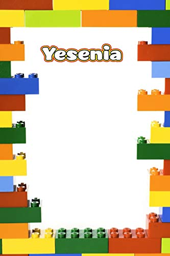 Yesenia: Building Brick Blank Comic Book Notebook Journal book 120 pages 6