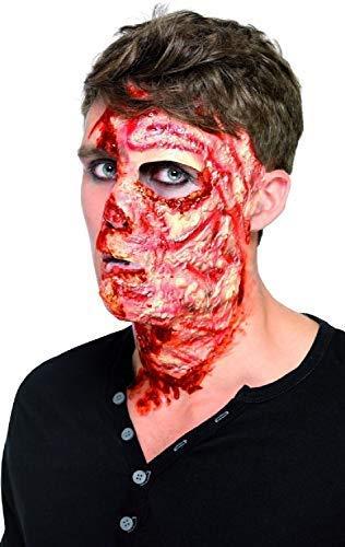 ren Halloween Spezialeffekte Make-Up Latex Verbrannt Skin Gesicht Narbe Unheimlich Gruselig Kostüm Verkleidung Zubehör ()