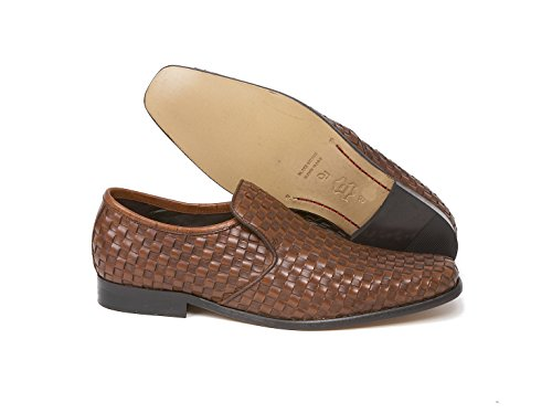 meaden Tan intrecciato in pelle Slip On by Delicious Junction, Meaden, Marrone