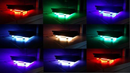 SM-PC® PS3 Kühler RGB LED mit Fernbedienung USB Design Cooler Lüfter 18cm Ständer passend für Playstation 3