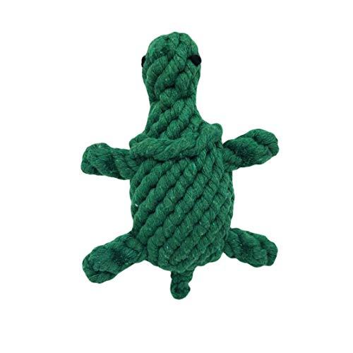 Weirk Pet Liefert Schildkröte Handgestricktes Spielzeug Tier Hunde Zahnreinigung Seil Kauen Spielzeug Baumwollseil Geflochte Molar Toys