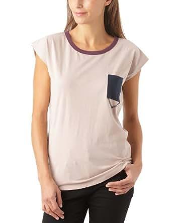 Gaspard Yurkievich - T-Shirt - À Logo - Jersey - Femme - Multicolore (Rose Poudre/Bleu Marine/Bordeaux) - 42