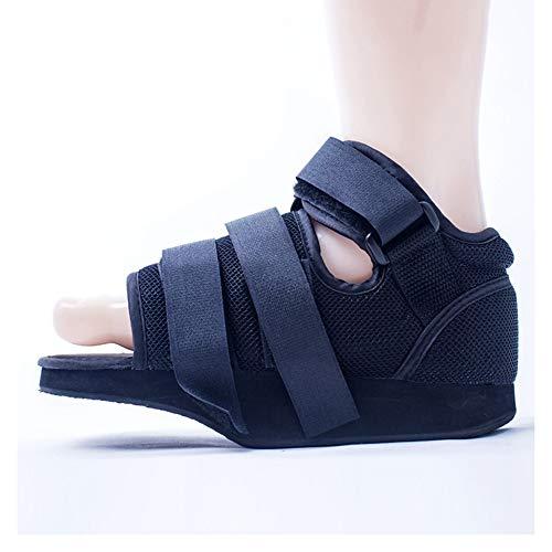 YxnGu Post-Op Square Toe Walking Schuh für gebrochene Zehen/Fußfraktur - Gipsschuh Post-Op Schuh - Verstellbarer Medical Walking Schuh (Size : L) -