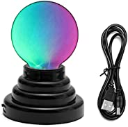 CozyCabin Butterfly Plasma Ball Light, Magic Thunder Lightning Plug-In Touch Sensitive - USB Powered For Parti