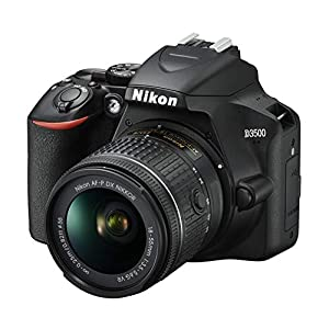 """Nikon d3500°Cámara réflex Digital con Objetivo NIKKOR AF-P 18/55VR, 24.2MPX, LCD de 3"""", SD de 16GB 300X Lexar Premium, Neopreno: 4años de garantía"""