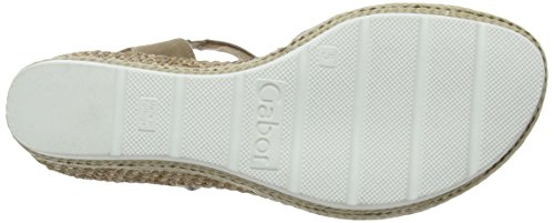 Gabor Shoes Comfort, Sandali con Zeppa Donna Marrone (walnut Grata)