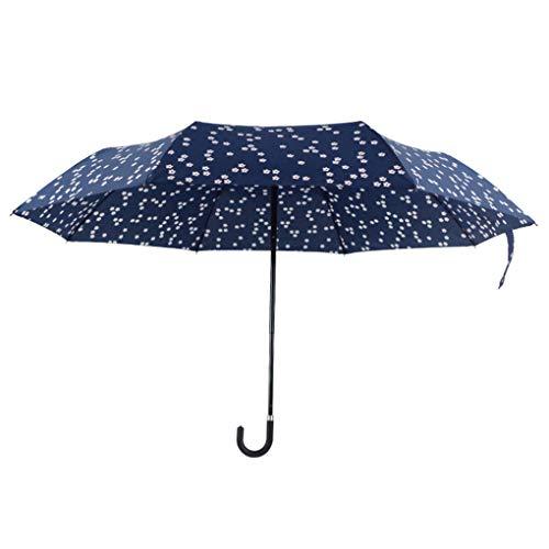chunyang Mini-Blumen Compact Sonne Regen Regenschirm Reise Leichtbau mit UV-Block Folding Parasol für Frauen