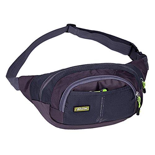 Wasserdichte Hüfttasche für Jogging Fitness Radfahren Fahrrad Motorrad MTB Bergsteigen Wandern Klettern Trekking... Outdoor Aktivitäten Dunkelblau