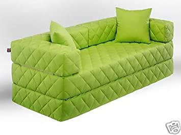 Schlafsofa grün  1A Schlafsofa! 10 versch. Farben! Ideal für Kinder (grün): Amazon ...