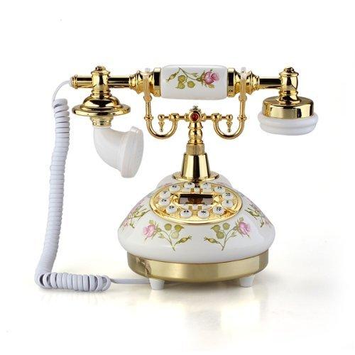 SODIAL(R) Telefono Fijo Antiguo Vintage Retro MS-9100 Casa Mesa Oficina