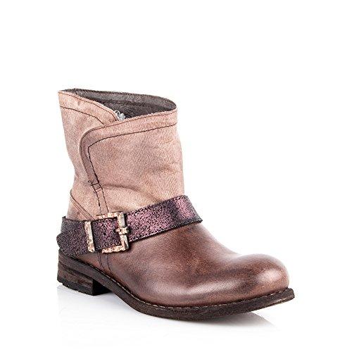 Felmini-Scarpe da donna, design Falling in Love with King& 8569-Stivaletti alla caviglia, da Cowboy, in pelle, colore: marrone, Taglia:, Marrone (marrone), 41 EU