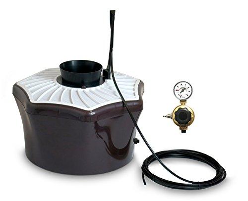 Biogents 003-DS-PGE004- Dispositivo Anti-zanzare con CO2 per la Cattura delle zanzare + 2Mesi Ricarica Resina Marrone