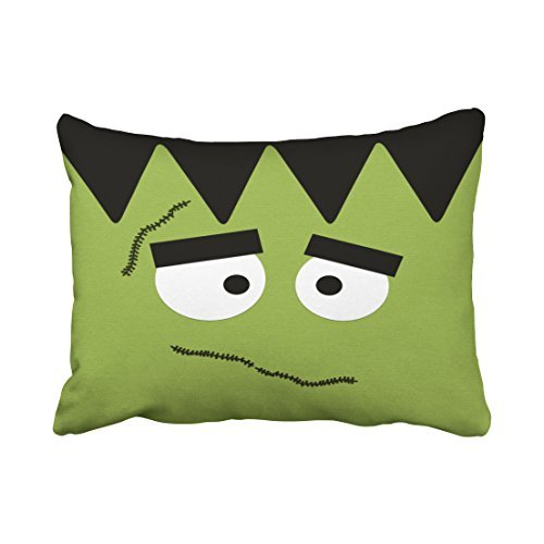 accrocn Funny Frankenstein Gesicht für Halloween Überwurf Kissenbezüge -