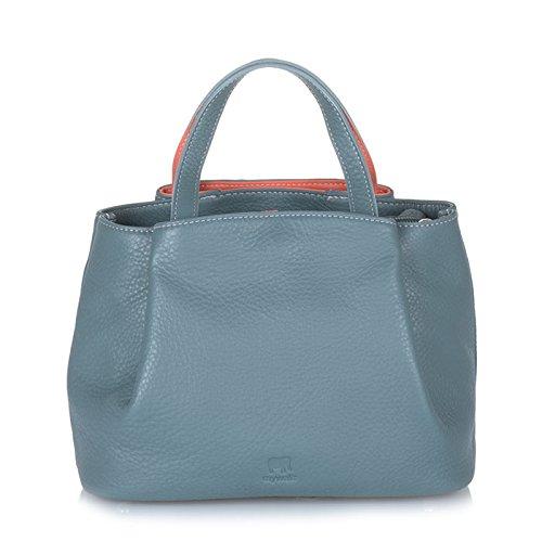 MyWalit en cuir petit sac poignée barre d'appui Verona Collection 1960 Urban Sky