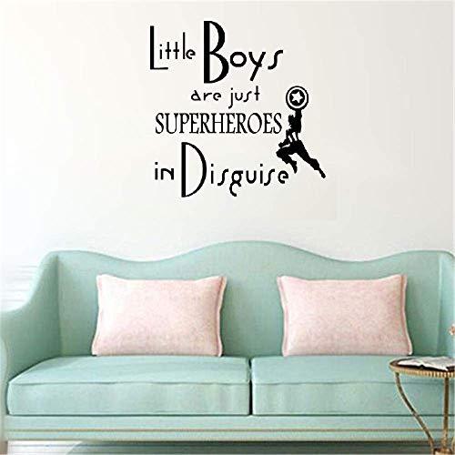 grün Kleine Jungs sind nur Superhelden für Jungs Zimmer verkleidet ()