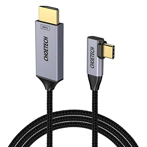 CHOETECH Cable USB C a HDMI 4K@60HZ Adaptador USB 3.1 Tipo C HDMI Cable para iPad Pro/Macbook Air 2018, MacBook Pro 2018, iMac 2017, Galaxy S9 Plus/S9/S8/S8 Plus,Huawei Mate 20 Pro/Mate 20/P20(1.8M)