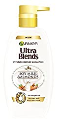 Garnier Ultra Blends Soy Milk and Almonds Shampoo, 640ml