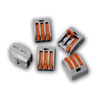 222-415 10 x Wago Tipo 5-way connettori elettrici LEVA Blocco Terminale Morsetto