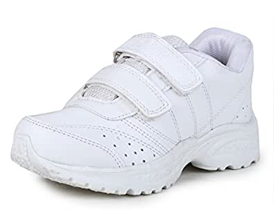 Touchwood Boy's and Girl's EVA Sole Synthetic Leather White School Shoes - 2C UK