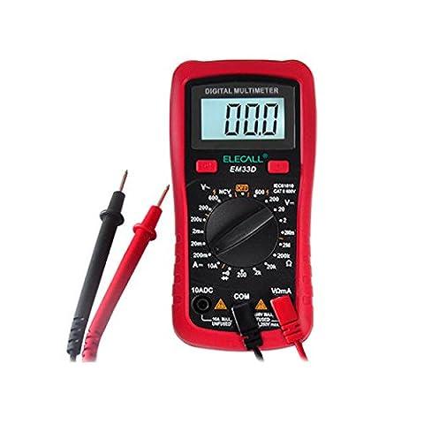 Multimètre numérique, automatique Digital Multimeters Electronic Instrument de mesure AC détecteur de tension Portable, sans contact de détection de tension Test de température, AMP/Ohm/Volt Test Mètre Multi testeur W/Diode et Test de continuité Scanners