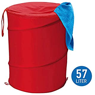 Art moon 699430 Peppy Foldable Laundry Hamper Polyester, Red, 37X52 cm