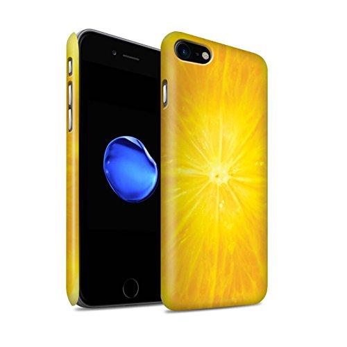 STUFF4 Matte Snap-On Hülle / Case für Apple iPhone 8 / Orange Peel / Haut Muster / Obst Kollektion Orange