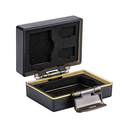 JJC Multifunktions Batteriegehäuse Kamera Akku Schutzbox und Speicher Fall Passend für Canon LP-E17 / JJC B-LPE17 und 1 x SD, 2 Mikro-SD-Karten (Fall Kamera-akkus)