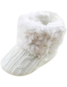 TOOGOO (R) infantil del bebe del ganchillo / Tejer de lana Botas para nina pequena Lana Cuna Nieve Zapatos Botines...