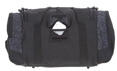 ALESSANDRO / ELEPHANT Sporttasche MATE Fitness Gym Tasche Reisetasche 55 cm / 45 Liter Grey Flower 3 (schwarz-grau)