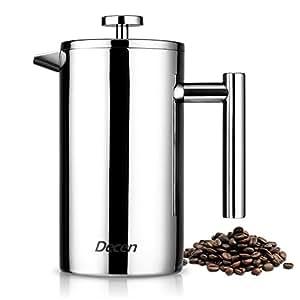 decen kaffeebereiter mit edelstahlfilter kaffeekanne french press system und. Black Bedroom Furniture Sets. Home Design Ideas