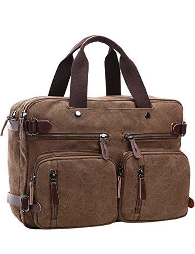 Mehrzweck Businesstasche Mehrfachfach Reise Rucksack Geräumig Laptop Tasche Messenger Bag Aktentasche Computer Schultertasche Wanderntasche Daypack für 15,6 Zoll Laptop/Macbook/Tablet, Kaffee (Bekommen Mac-laptop-tasche)