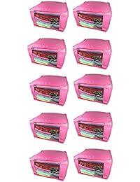 Sarohi Pack Of 10 Pcs Multipurpose Saree Cover Sari Cover Garments Cover For Keeping Saree Blouse - B07DRF77QQ