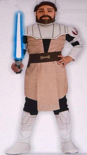 Original Lizenz Star Wars Clone Wars Obi Wan Kenobi Clonewars Kostüm Gr. 146 - (Kostüme Wars Obi Clone Erwachsenen Wan Kenobi)