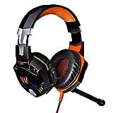 Xbox One, Ps4, Pc-Controller, Gaming-Headset Mit Mikrofon, Angenehme Rauschunterdrückung Kristallklarheit 3,5 Mm, Schwarz-Orange Kopfhörer