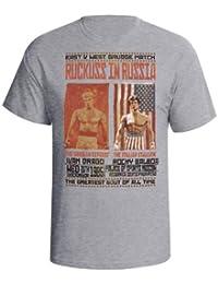 Balboa V Drago Hombres Boxing Película camiseta