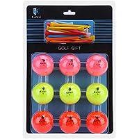 VGEBY1 Juego de Golf, 9 Bolas y 20 Tees. Regalo de Golf. Equipo de los Amantes del Golf.