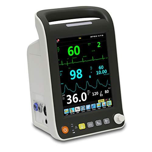 iCare-Pet 8,0 Pulgadas Monitor de Mascotas para verificar el Ritmo cardíaco de la Mascota, SpO2, Temperatura, Adecuado para Uso doméstico y clínica para Mascotas