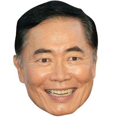 Celebrity Cutouts George Takei Maske aus Karton