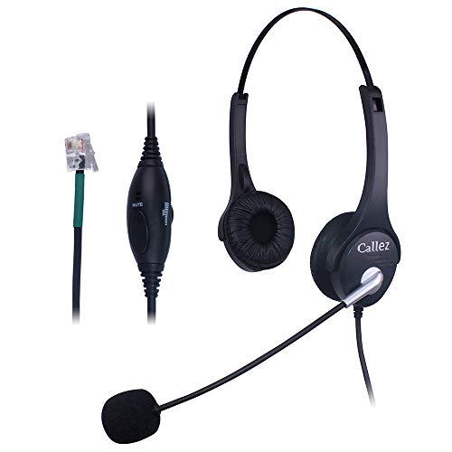 Callez C402A1 IP telefono cuffie con cancellazione del rumore mic RJ per  Avaya AASTRA Allworx Adtran 3964b376eb8b