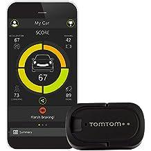 TomTom Curfer (Dashboard zur Fahrtenbewertung, Erweiterte Fahrzeugdaten, Fahrzeugsuche, Fahrtenanalyse, Auszeichnungen für Ihren Fahrstil, schwarz)