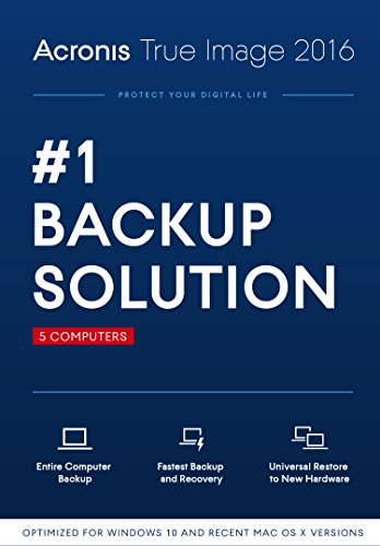 Acronis True Image 2016 (5 Computer)  [Old Version]