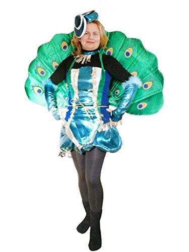 Seruna Pfau-Kostüm, To53/00 Gr. M-L, Pfau-Faschingskostüme für Männer und Frauen, Pfau-Faschingskostüm, für Fasching Karneval Fasnacht, Karnevals-Kostüme, Faschings-Kostüme, - Pfau Kostüm Männer