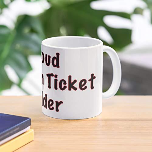 Football Mug Proud Sport Holder Season Ticket Waffel-Frühstückshaus-südliches Bestseller-Modegeschenk 11 Unze-Kaffeetasse für jeder