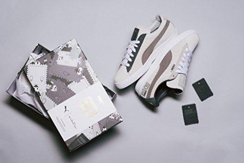 Puma Classic x Michael Lau Sample Suede White/Steel Gray - 366170 01 Blanco