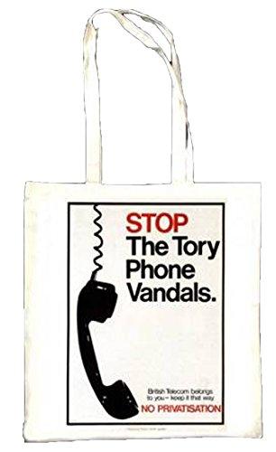 Stop The Téléphone Tory Vandales Politique Poster Sac fourre-tout