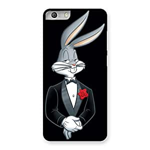 Special Smart Bunny Black Red Back Case Cover for Micromax Canvas Knight 2